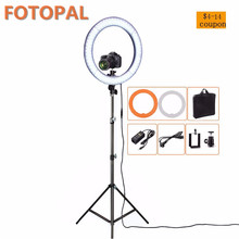 Fotopal RL-12 36W 180 LED Photographic Lighting Dimmable Camera Photo/Studio/Phone/Video Photography Ring Light Lamp&Tripod