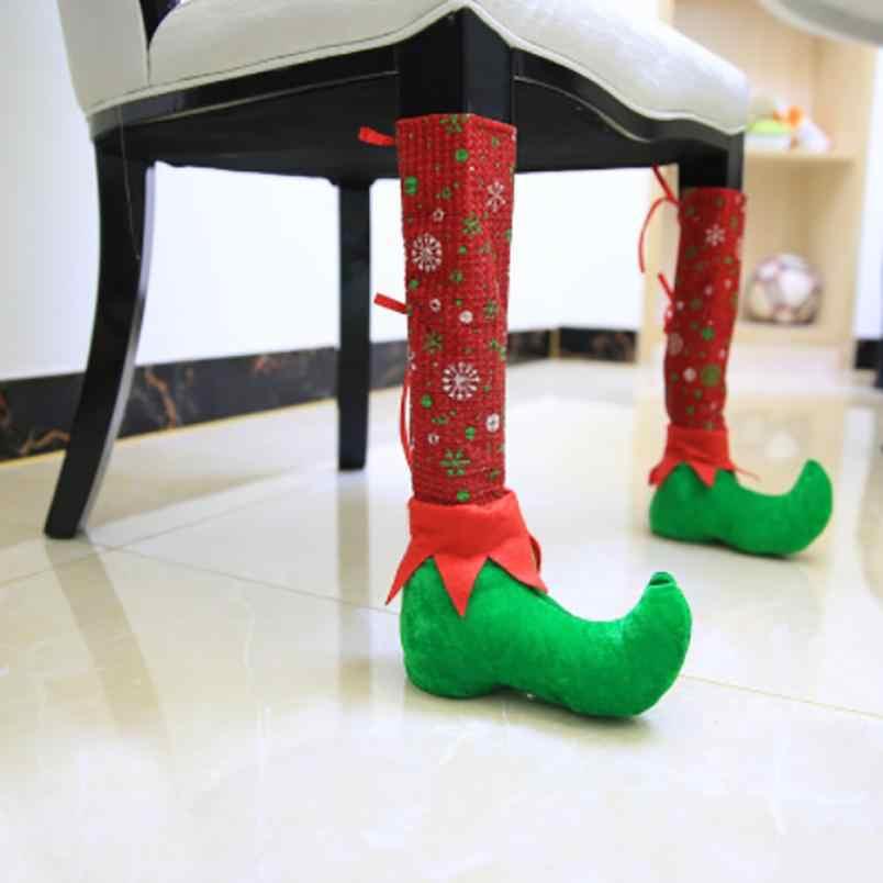 2020 Рождественские украшения ресторанные бары стулья ножки наборы табуретов 8 18