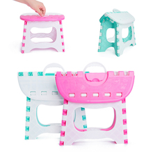 Portable  Camping Picnic Plastic Folding Stool Step Portable Home Furniture Kid Child Convenient Dinner Stools 2 Color Chair