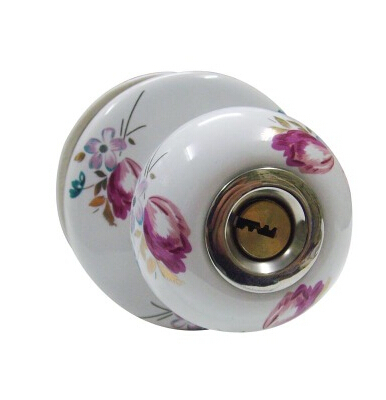 Ceramic lock the door when indoor European ball lock hold hand lock copper core  S-001 vicky ward the liar s ball