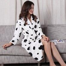 Kış kadın Mini Kimono elbise moda sonbahar bayan flanel banyo elbisesi Yukata gecelik pijama Sleepshirts bir boyut