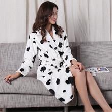 Winter Womens Mini Kimono Robe Fashion Autumn Lady Flannel Bath Gown Yukata Nightgown Sleepwear Sleepshirts One Size