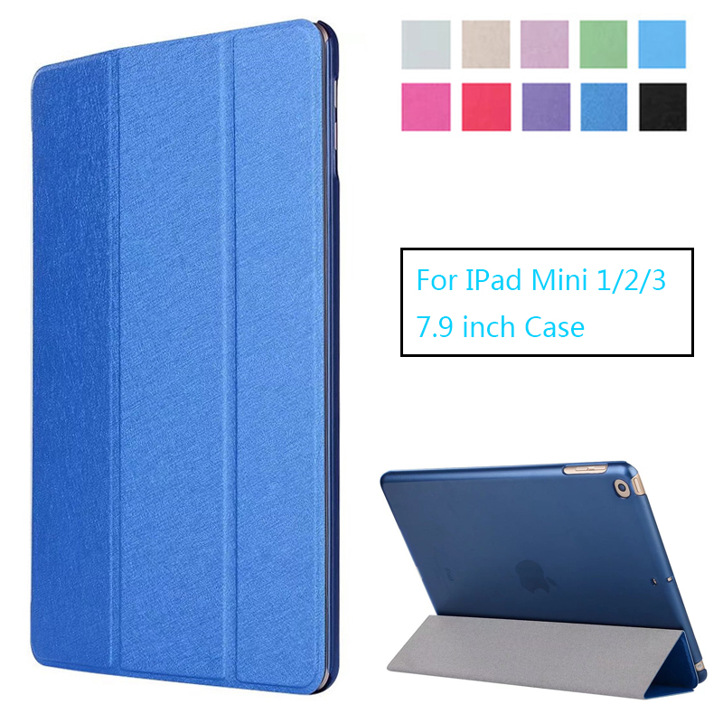 Ultra-Thin Case for IPad Mini 1/2/3 Case PU Leather Stand Cover Elastic Skin Geometry Flip Cover for Apple IPad Mini 2 3 Case