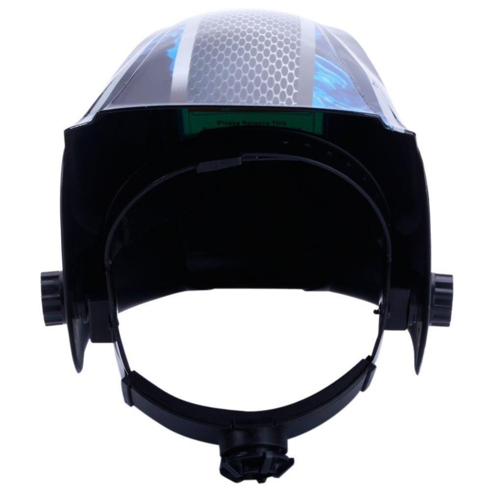 Neue Schweiß Helm Maske Solar Auto Verdunkelung Einstellbare Schatten Palette DIN 9-13/Rest DIN 4 Schweißer Schutz getriebe ARC MIG TIG