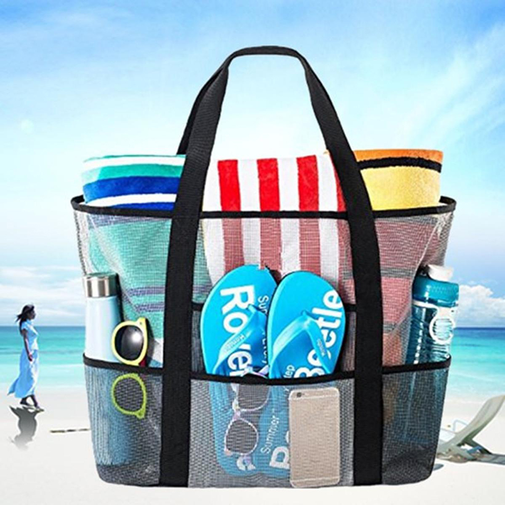 Folding Women Shopping Bags Mesh Large for Traveling Covers Bag Sport Bags Covers
