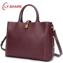 LY.SHARK Ladies' Genuine Leather Handbag Luxury Handbags Women Bags Designer Crossbody Bags For Women Shoulder Bag Female