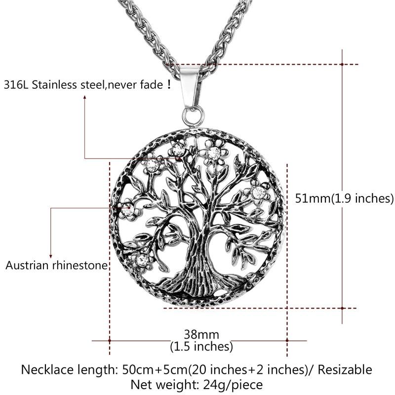 Starlord Tree Of Life Necklace & varëse 316L Stainless Steel / Gold - Bizhuteri të modës - Foto 5