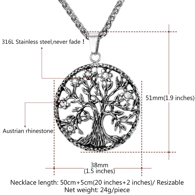 Starlord Tree Of Life Վզնոց և կախազարդ 316L - Նորաձև զարդեր - Լուսանկար 5
