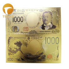 Color Japan Gold Banknote 5000 Yen Banknotes In 99.9% Plated for Collection