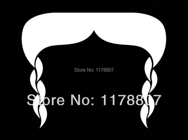 Braided mustache sticker viny decal for car window door drift jdm race stache moustache