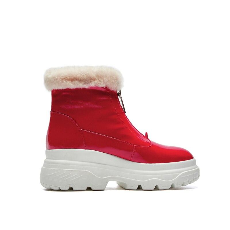 Russia impermeabile Doratasia rosso dropship boots donne snow nero caviglia inverno peluche vernice marca caldo in scarpe donna ww0gUq