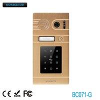 Nuevo HOMSECUR BC071 G Cámara al aire libre cámara dorada con contraseña y acceso de tarjeta para