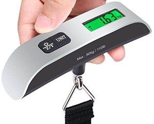Image 2 - 110lb/50kg Luggage Scale Electronic Digital Portable Suitcase Travel Scale Weighs Baggage Bag Hanging Scales Balance Weight LCD