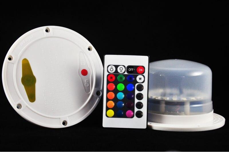 1 St * Uppladdningsbar IR fjärrstyrd multicolor RGB LED under - Nattlampor - Foto 3
