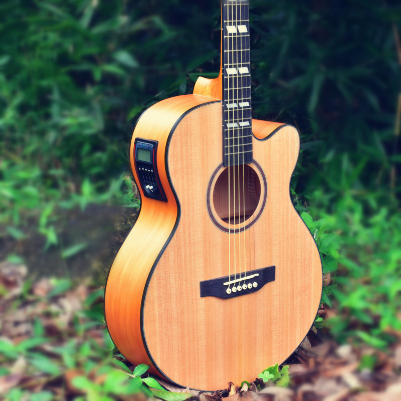 Guitarist guitars 40 inch Picea Asperata wood Electric Acoustic Guitar Rosewood Fingerboard guitarra with guitar strings yuker 39 inch electric guitar 6 strings 22 frets high quality mahogany body rosewood fingerboard electric guitarra