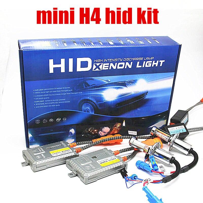 Dianshi 1 pair fast bright 55W H4 Hi low HID Headlight xenon kit 4300K 6000K 8000K