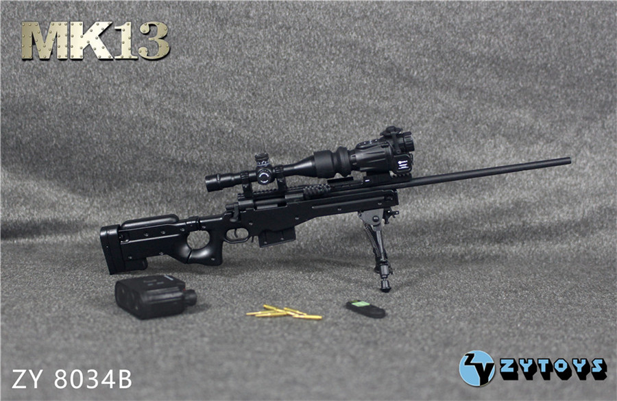 "ZY TOYS 1//6 Scale Sniper MK13 Black Machine Gun Model For 12/"" Action Figure Body"