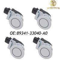 4PCS 89341 33040 A0 89341 33040 Parking Sensor PDC For Toyota Camry Corolla FJ /Land/ Urban Cruiser White