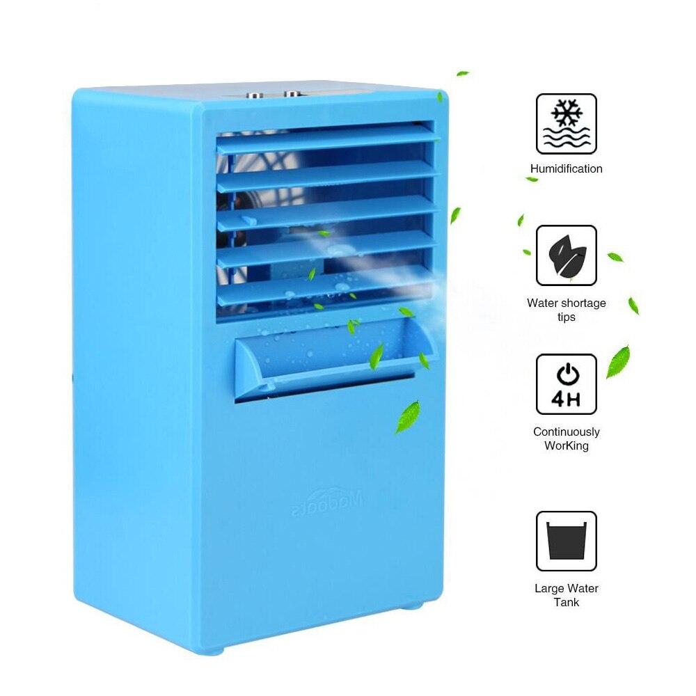 Personal Space Cooler Mini Portable Air Conditioner Fan Small Desktop Fan Table Fan Air Circulator Misting Humidifier