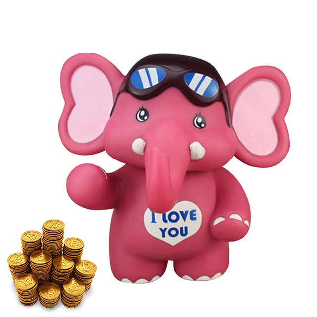 Cute Child Piggy Bank Cartoon Elephant Saving Coins Money Box Coin ...