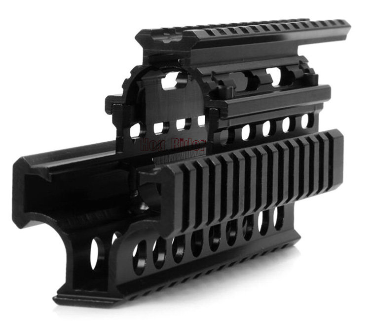 US $25 73 29% OFF|Tactical AK47/74 Series Aluminum Alloy Rifle Quad Rail  Hand Guard Integrate System RIS Mount for Shooting with free 12pcs cover-in
