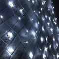 3x1.5 m us/plugue da ue da forma do coração colorido luz de fadas 128 led string cortina de luz festa de casamento festa de natal decoração da lâmpada