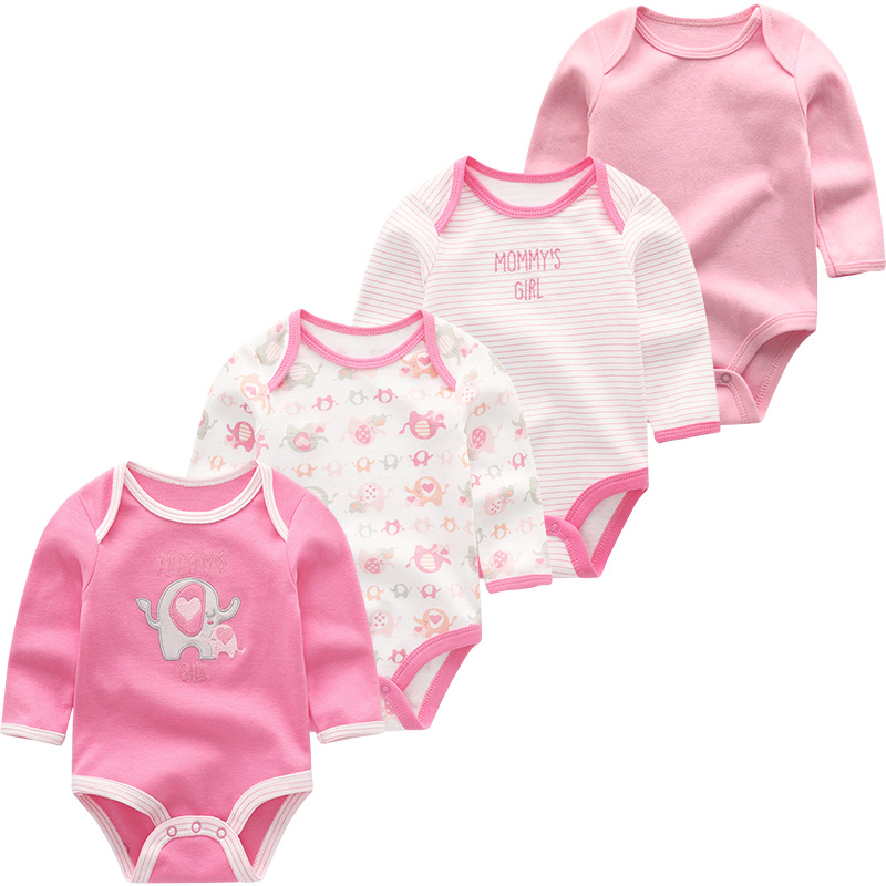 Newborn Baby Girl Clothes Rompers Toddler Costume Baby Boy Clothing Long Sleeve Cotton 3-12M Infant Pajamas Ropa De Bebe