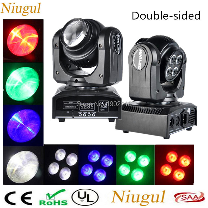 2pcs/lot LED Double Sides Moving Head Light /4 x10W+1 x10W LED Beam Wash Light /RGBW DMX512 Rotating Moving Head Stage Lighting 10pcs lot cheap stage light 36 15w 5 in 1 led zoom moving head wash light rgbwy color mixing dmx512 lighting control