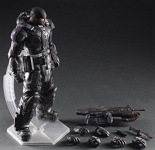 Jouer Arts Marcus Fenix Jeu Gears Of War 3 Guerre Machine PA Play Arts Kai 27 cm PVC Action Figure Poupée jouets