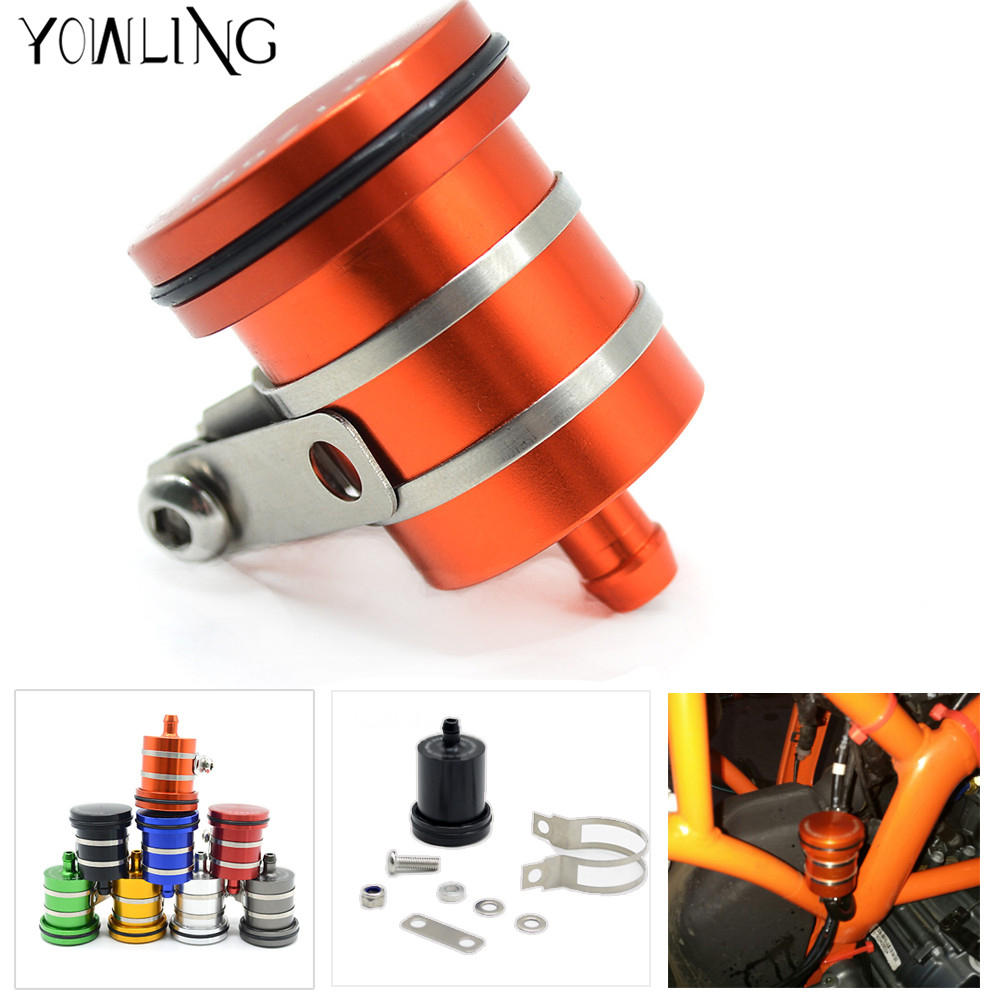 Universal Motorcycle Brake Fluid Reservoir Clutch Tank Oil Fluid Cup For KTM 640 Adventure/Duke/Enduro/SM 690 DUKE/R ENDURO/SMC universal motorcycle brake fluid reservoir clutch tank oil fluid cup for kawasaki z1000 z800 z300 zzr1400 versys 650 er 4n er 6n