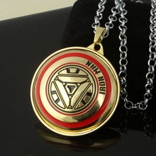 High Quality Marvel The Avengers Superhero Iron Man Necklace Pendants Accessories Figure Toys Gift