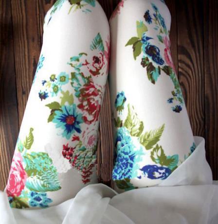 Vintage Graffiti Floral Patterned Leggings