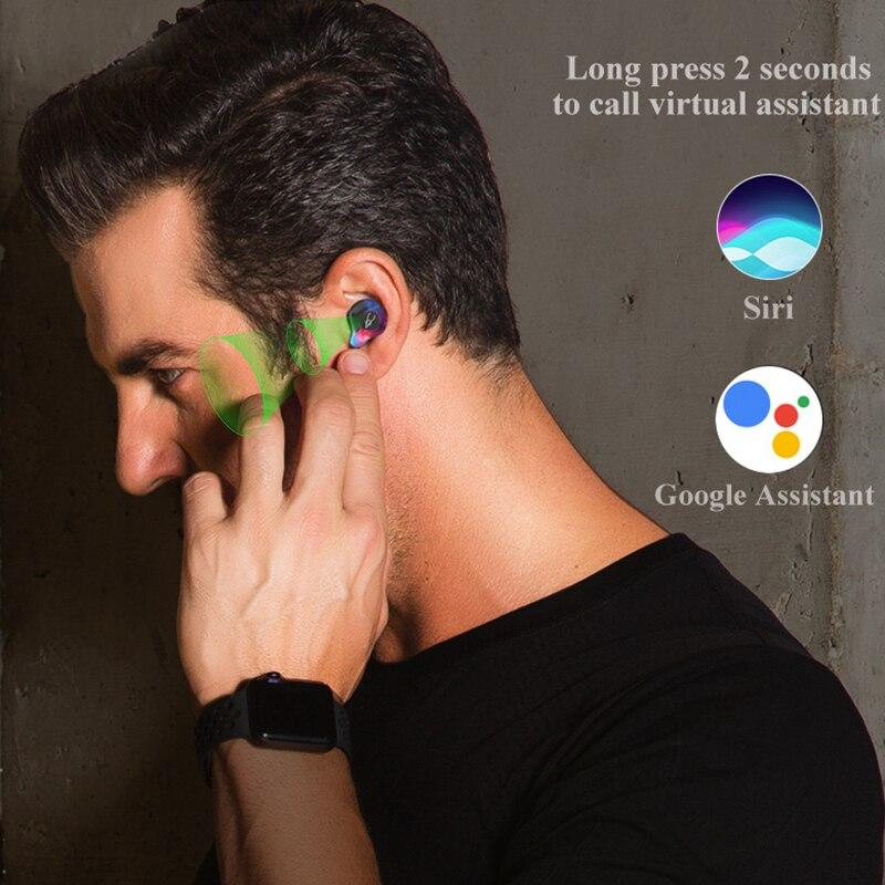 Professionnel Jumeaux Mini 3D Son Stéréo écouteurs bluetooth Invisible Vrai Sans Fil Étanche écouteurs de sport avec batterie externe - 6