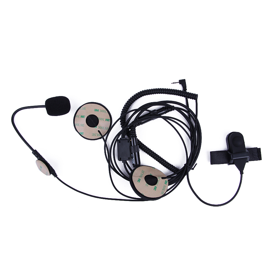 2.5mm Half Face Motorcycle Helmet Headset Headphone PTT For Motorola Portable Radio Walkie Talkie T5428 TLKR T80 T6 T60 T6500