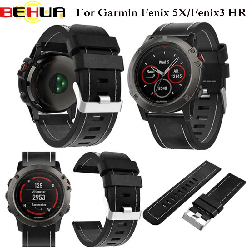 Gute Leder Armbanduhr Armband Armband Fur Garmin Fenix 3 Smartwatch
