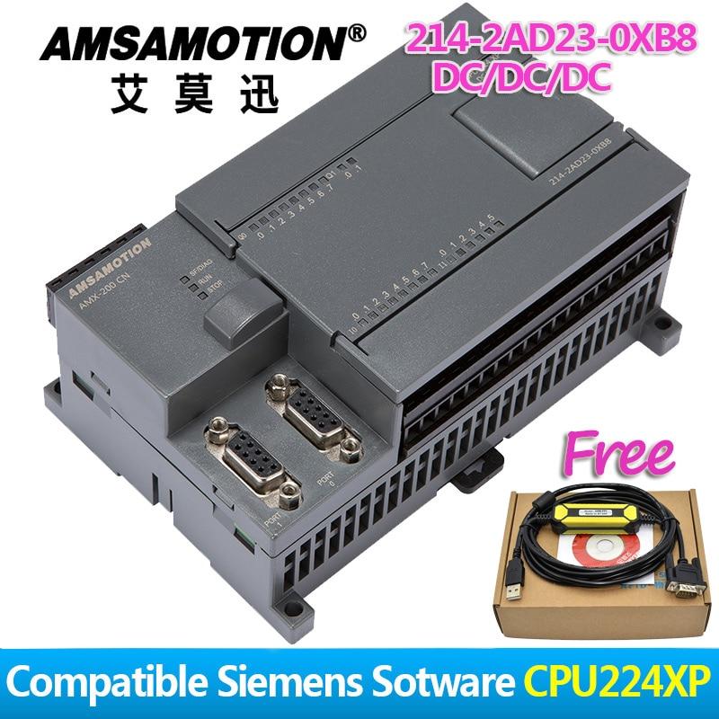 Amsamotion CPU224XP S7 200CN PLC DC/DC/DC 14 Input 10 Output 6ES7 214 2AD23 0XB8 Transistor Output Digital Input PLC