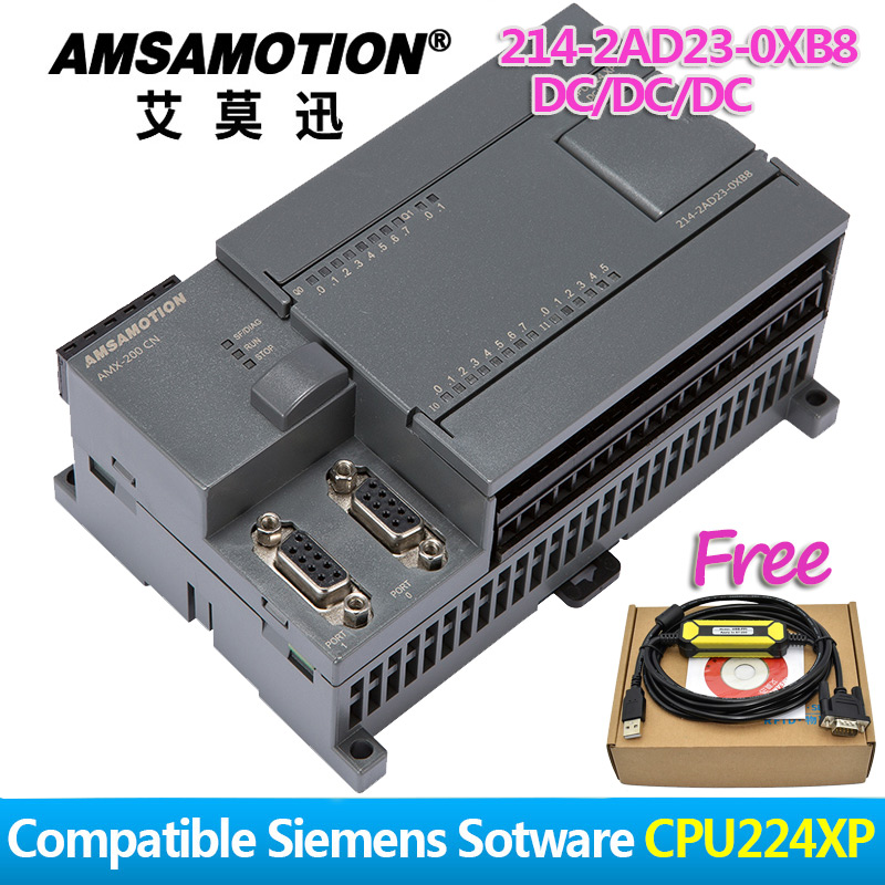 Amsamotion CPU224XP S7-200CN PLC DC/DC/DC 14 Input 10 Output 6ES7 214-2AD23-0XB8 Transistor Output Digital Input PLC