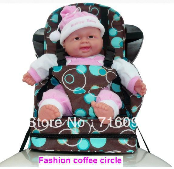Free shipping Baby safety High Chair Seat infant Portable Fold up Booster Seat Child safety car