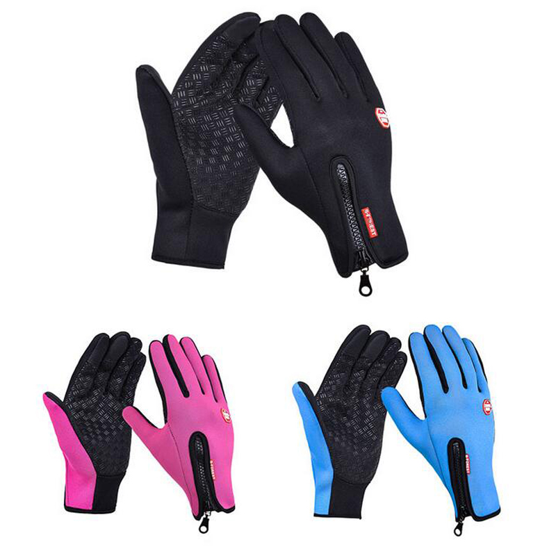 Outdoor Sports Waterproof Working Gloves Winter Gloves For Men Women Simulated Leather Soft Warm Gloves  With Screen-Touchable