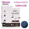 100 unids vidrio templado película protectora protector de pantalla de cine para samsung j7 2016 j710