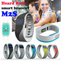 M2S Heart Rate Monitor Smartband Pedometer Sports Fitness Wristband Bluetooth Bracelet for iphone Android pk mi band 2 Fit bit