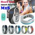 Smartband M2S Heart Rate Monitor Шагомер Спортивный Фитнес Браслет Bluetooth Браслет для iphone Android pk mi группа 2 Fit бит