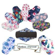 [Simfamily] 10 шт гигиенические прокладки с бамбуковым углем, прокладки с регулярным потоком, многоразовые гигиенические прокладки для менструального здоровья