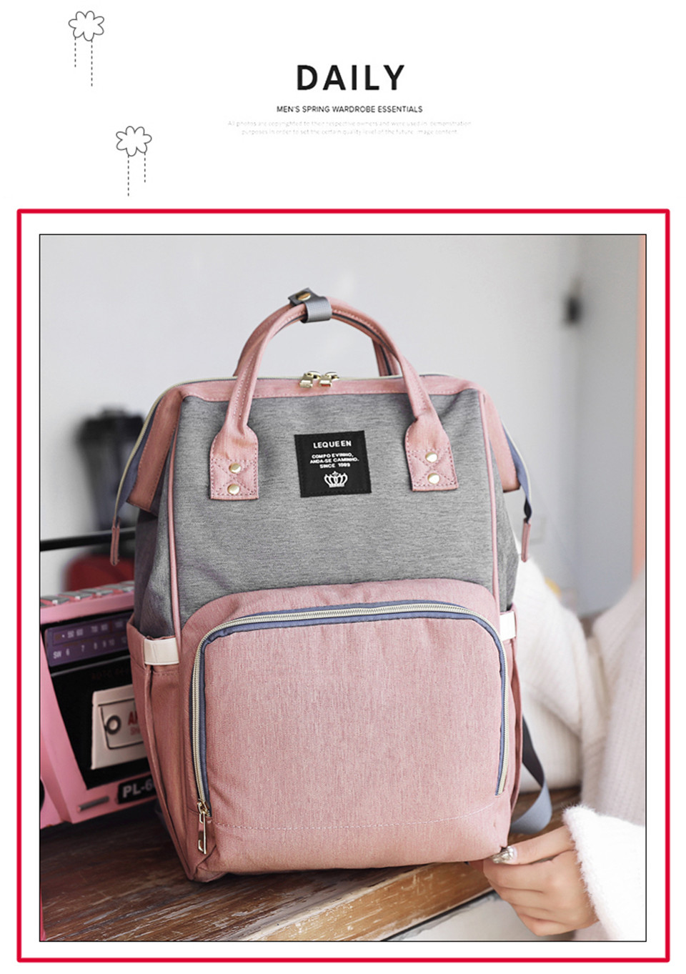 Nappy Backpack Bag Mummy Large Capacity Bag Mom Baby Multi-function Waterproof Outdoor Travel Diaper Bags For Baby Care
