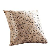 40*40 см квадратный Персик Сердце Наволочки мягкие и удобные плюшевые домашние наволочки, покрытия для подушек