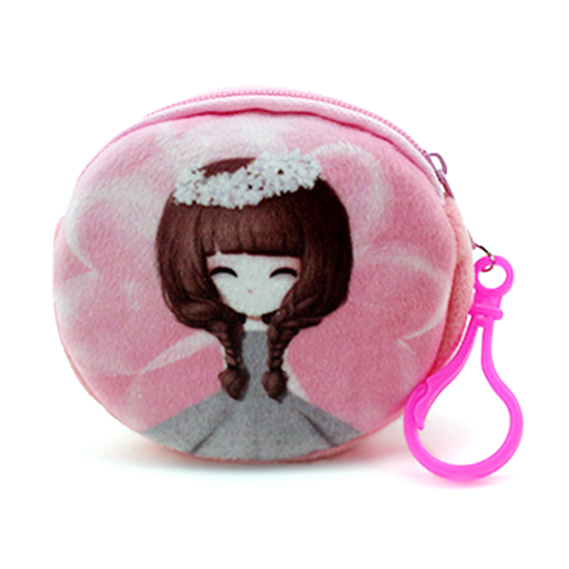 XYDYY NEW Printed Beautiful Girl Zipper Coin purse wallet bag coin pouch childrens purse women coin wallet