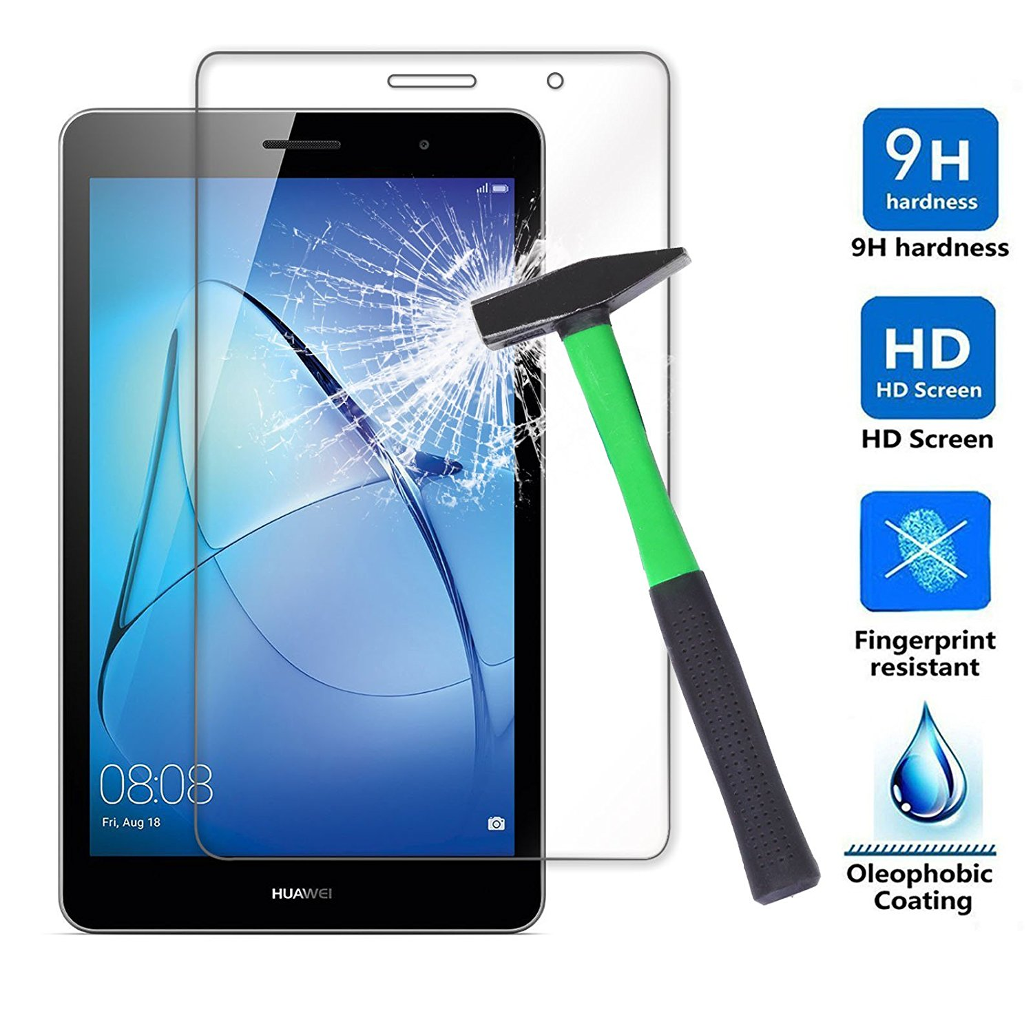 For Huawei Mediapad T3 8 inch Tempered Glass Clear 9H Explosion proof LCD Screen Protector for KOB L09 KOB W09 Protective Film in Tablet Screen Protectors from Computer Office