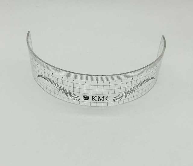10Pcs Permanent Makeup Stencils Plastic Eyebrow Ruler KMC Tattoo Cosmetic Shaping Tool For The Beginers 3