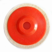 100mm wool polishing wheel felting wool grinding disc abrasive brush dremel power tool rotary tool accessories woodworking