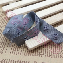 50 yards/lot, white/black 18mm width snap fastener tape garment accessories
